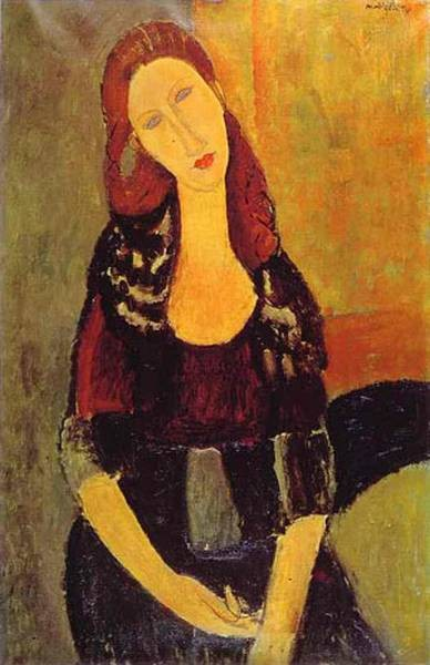 portrait of jeanne hebuterne 1898 1920 common law wife of amedeo modigliani 1918 XX private collection